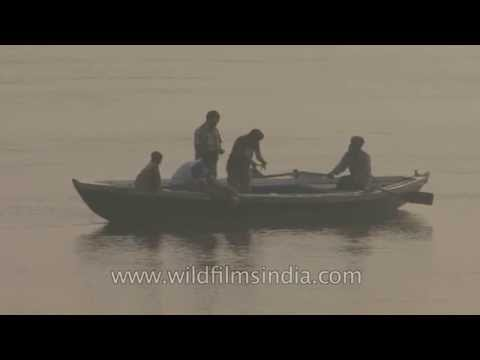 Rowing boat on the river Ganges - Varanasi