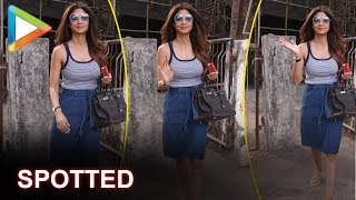 Shilpa Shetty SPOTTED outside a salon in Juhu - HUNGAMA