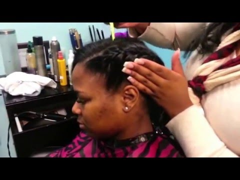 Underhand Braid with Partial sew in