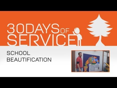 30 Days of Service by Brad Jamison: Day 2 - School Beautification
