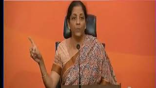 Nirmala Sitharaman holds press conference on reports of arms dealer buying Vadra's air tickets - NEWSXLIVE