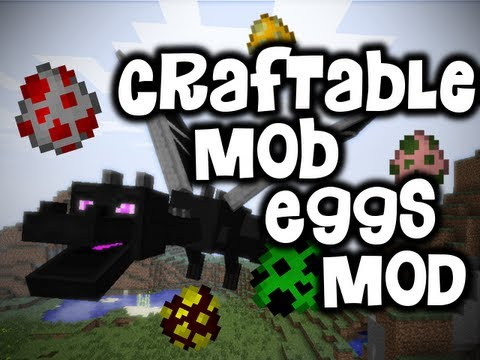 Craftable Mob Eggs Mod SPAWN ENDER DRAGONS IN SURVIVAL HD 