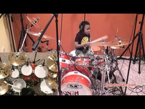 Avenged Sevenfold - Almost Easy, 6 Year old Drummer, Jonah Rocks