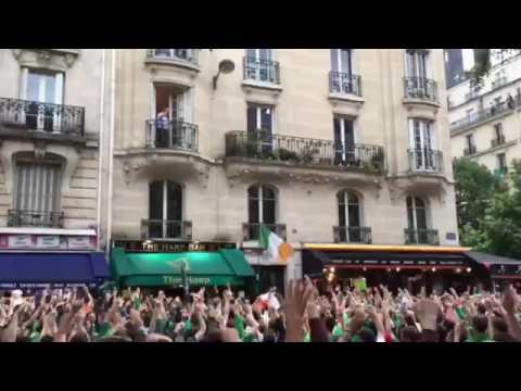 Irlandczycy kibicują starszemu panu w Paryżu