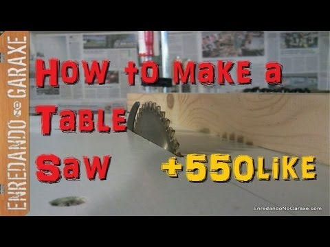 Como hacer una sierra de mesa con la sierra circular. Make a table saw with your circular saw.