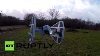 Star Wars fan turns drone into TIE interceptor - RUSSIATODAY