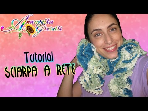 Tutorial sciarpa a rete ai ferri | Metodo alternativo | How to knit a butterfly scarf