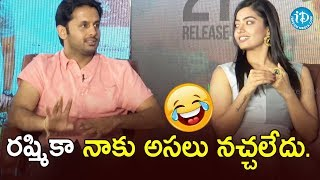 Nithiin Makes Fun Of Rashmika | Bheeshma Team Funny Interview | Venky Kudumula | iDream Movies - IDREAMMOVIES