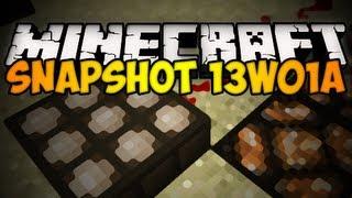 Minecraft Snapshot 13w01a - DAYLIGHT SENSOR, NEW ORE, & MORE! (HD)