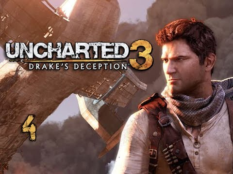 "Uncharted 3 Walkthrough - Part 4 ""Nearly Perfect"" (Let's Play, Playthrough)"