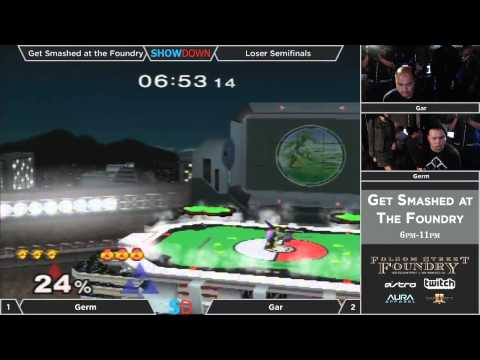 Get Smashed at the Foundry #4 - Losers: Semifinals - Germ (Link) vs gaR (Sheik)