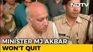 Minister MJ Akbar Won't Quit Over #MeToo, Warns Legal Action - NDTV