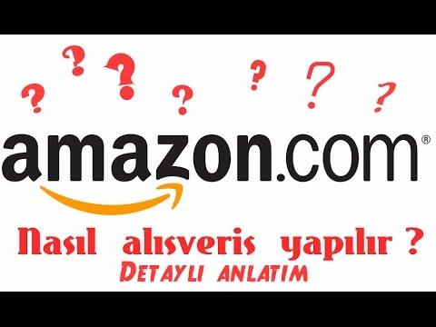 Amazon.com 'dan Nasıl Alışveriş Yapılır - Üyelik -  Detaylı Anlatım