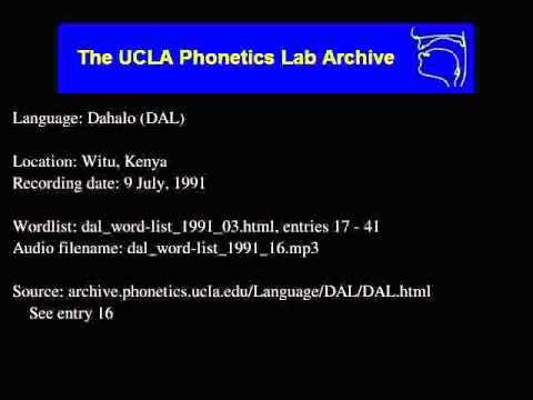 Dahalo audio: dal_word-list_1991_16