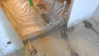 Заливка пола с керамзитом день 3