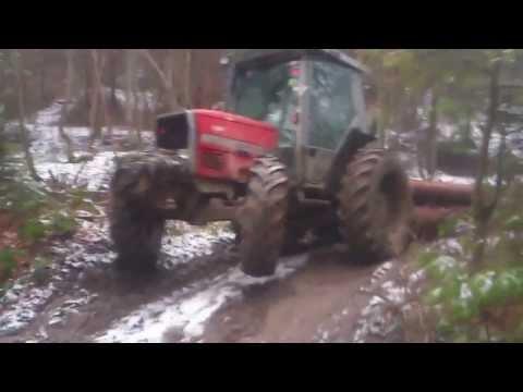 zrywka drewna (Leśnictwo Magura 2014)