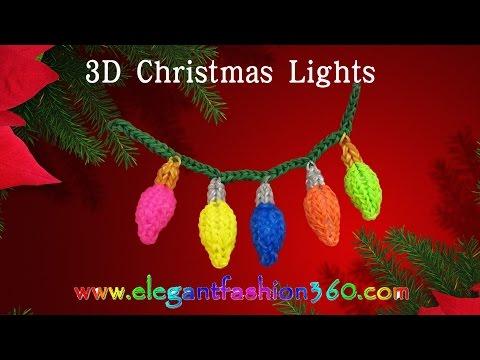 Jak zrobić światełka choinkowe 3D z Rainbow Loom