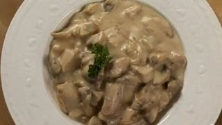Chicken & Mushroom in White Sauce ..