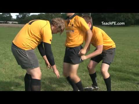 Rugby Drills - Lifting lineout with catch and drive