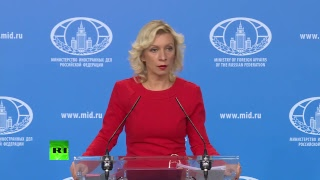 Zakharova holds weekly press briefing in Moscow - RUSSIATODAY
