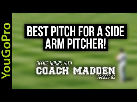 Best Pitch for a Sidearm Pitcher!  [Office Hours with Coach Madden] Ep.95