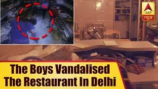 Delivery boys of online app vandalise restaurant in Delhi's Kalkaji - ABPNEWSTV
