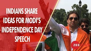 Indians share ideas for PM Narendra Modi's Independence Day Speech - ZEENEWS