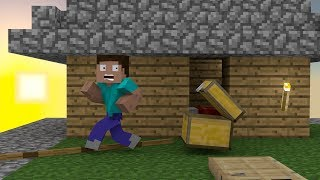 Steve's Skyblock Adventures: The Rogue Chest - Minecraft Animation