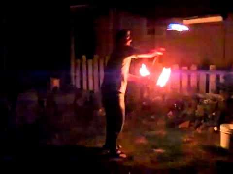 fire staff and poi at the same time