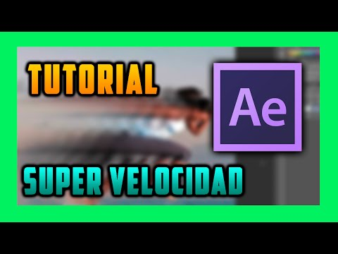 Tutorial efecto super velocidad after effects Cs4
