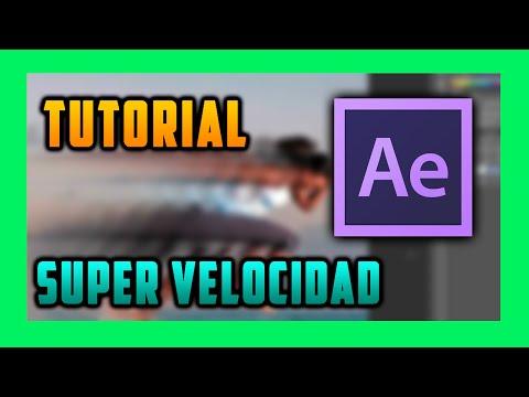 Tutorial efecto super velocidad after effects Cs4