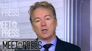 Rand Paul: Calling Trump 'racist' hurts immigration negotiations | Meet The Press | NBC News - NBCNEWS