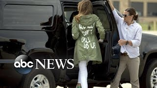 First lady's trip to visit immigrant children overshadowed by tone-deaf jacket choice - ABCNEWS
