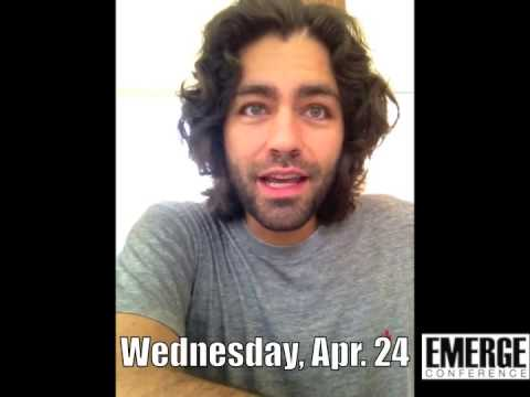 Message from Adrian Grenier: EMERGE Conference 2013