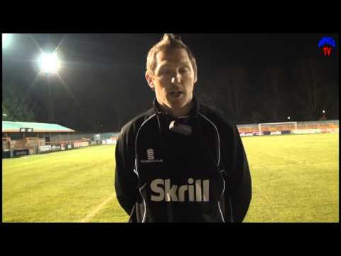 WingsTV Freeview Jamie Day afterBraintree Town vs Welling United 30th November 2013