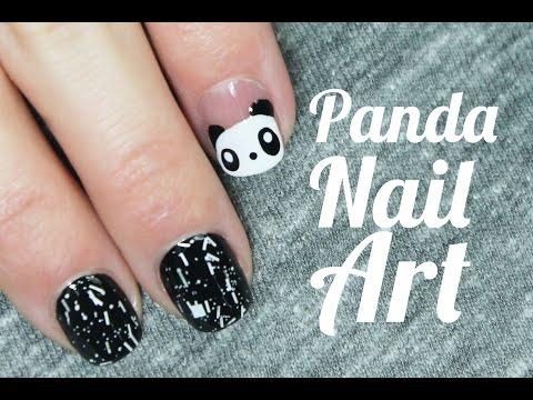 Uñas decoradas con animales paso a paso | Oso Panda Nail Art