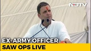 """Like A True Soldier"": Rahul Gandhi Attacks PM After Officer's Criticism - NDTV"