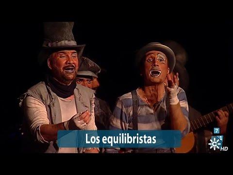 Sesión de Semifinales, la agrupación Los equilibristas actúa hoy en la modalidad de Comparsas.