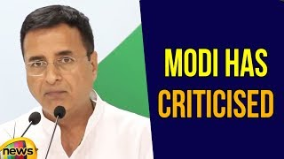 Randeep Surjewala says Modi has criticised those who gave a lecture on Rupees in 2014 | Mango News - MANGONEWS