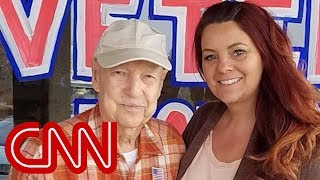Couple 'adopts' 93-year-old veteran after his town burns to the ground - CNN