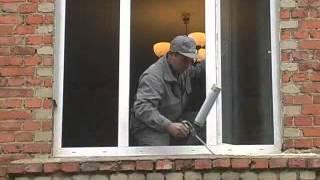 Монтаж пвх окон видео в кирпичном доме