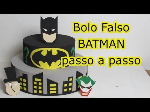 Bolo Falso BATMAN passo a passo