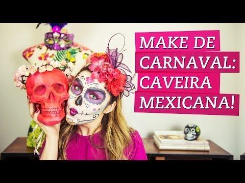 Maquiagem de carnaval: caveira mexicana!