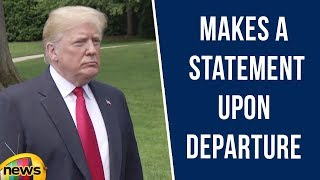 USA President Donald Trump Makes a Statement Upon Departure | Immigration and MS 13 | Mango News - MANGONEWS