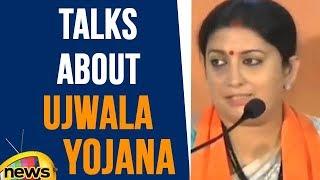 Smriti Irani Talks About Ujwala Yojana Tehad & Sukanya Samridhi Yojana Tehed | Mango News - MANGONEWS