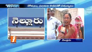 Peoples Suffer With Diseases Due To Sanitation Problems In Nellore | Ground Report | iNews - INEWS