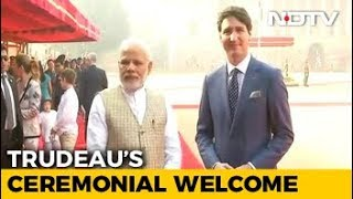 Justin Trudeau Welcomed At Rashtrapati Bhavan, Meets PM Modi - NDTV