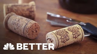 How To Open A Bottle Of Wine Without A Corkscrew | Better | NBC News - NBCNEWS