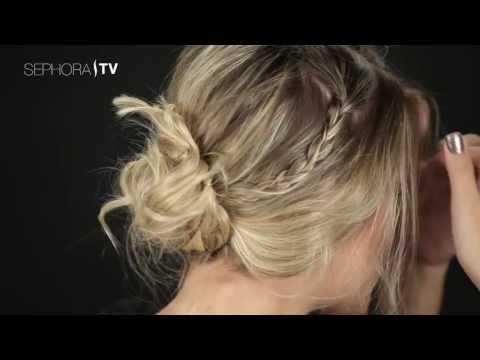 Tutorial de Penteado Sephora: Coque Despojado com Tranças Laterais
