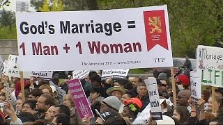 مظاهرات في واشنطن ضد زواج مثليي الجنس